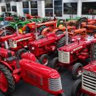 The vintage tractor collection belonging to Wanaka developer Allan Dippie.