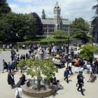 The University of Otago campus was busy on Saturday as graduands gathered for family photographs....