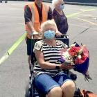A wheelchair was on hand for distance runner Judy Brock – thanks to her brother Darryl – when she...