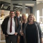 Deputy Prime Minister Grant Robertson (L) and Energy Minister Megan Woods (R) in Invercargill...