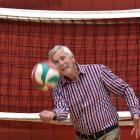 Jock Murley shows his volleyball style at the Otago Girls' High School gymnasium yesterday. PHOTO...