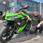 MotoXtreme Kawasaki owner Kevin Dougherty with a Kawasaki Ninja 400cc, a popular choice among...