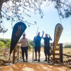 Officially opening the newest off-road section of the Alps 2 Ocean Cycle Trail, from Sailors...