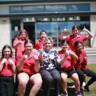 Oamaru North School pupils (back, from left) Lillian Campbell, Hezekiah Chappell, Karmin Mullaly,...