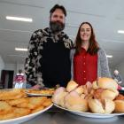 Sarah Chalmers and her husband Pastor Chris Chalmers get ready to tuck into the Christmas...