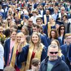 About 400 Otago Polytechnic graduands parade in George St to Dunedin Town Hall yesterday...