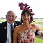 Southland Racing Club president Sean Bellew and his wife Becky on Saturday.
