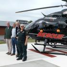 Saying thank you to those responsible for creating the helipad at Maniototo Hospital in Ranfurly...