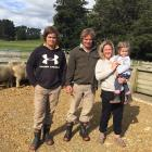 The Robertsons, of Merrydowns Romney and Southdown Stud near Tapanui, are (centre) Sally and...