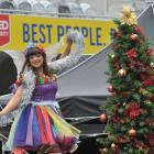 Dunedin's favourite fairy Rainbow Rosalind entertains the crowd at Christmas in the Stadium on...