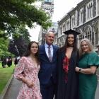 The graduation ceremony of University of Otago student Jeorgia Gesthuizen (third from left) was...
