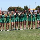 The Te Waipounamu touch team lines up for one of its games on Saturday. PHOTO: AUCKLAND SPORTS...