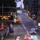 An empty street in the CBD as residents of Greater Sydney are asked to consider staying at home....