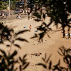 People are seen exercising at Manly Beach in Sydney. Photo: Getty Images