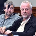 Dunedin City councillor Lee Vandervis at a council meeting this year. PHOTO: PETER MCINTOSH