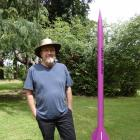 Alistair Broad with one of two rockets he launched in Oturehua on New Year's Eve. PHOTO: ALEXIA...