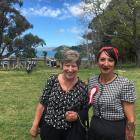 Christchurch Mayor Lianne Dalziel and Duvauchelle A&P Association president Tania Kiely hope...