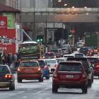 Traffic in Castle St at 3.30pm on Wednesday. Photo: Stephen Jaquiery