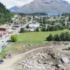The site of the new Te Pa Tahuna housing development in Queenstown has been cleared for action...