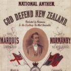 Original sheet music of 'God Defend New Zealand' national anthem. Photo: File