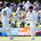 Kane Williamson and Henry Nicholls put on 369 for the fourth wicket against Pakistan. Photo:...