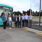 Waimakariri Mayor Dan Gordon (left) was joined by MP Matt Doocey, councillors and staff to test...
