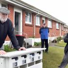 Invercargill City Council housing unit tenants (from left) Ken McNaught, Michael Reid and Nehua...
