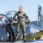 Lieutenant Jo Brook, from Dunedin, is New Zealand's first female navy pilot. PHOTO: NEW ZEALAND...