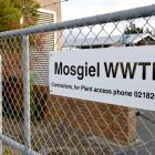 Mosgiel waste water treatment plant entrance.