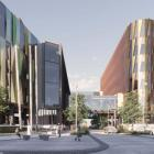 A concept design image for the new Dunedin Hospital buildings. Image: supplied