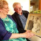 Shirley and Pat Paulin reminisce about their wedding day in Dunedin 65 years ago 