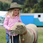 Charlee Hazlett, of Hokonui, won best large pet with her Southdown sheep Ellavetta at the...