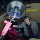 Dunedin amateur astronomer Ash Pennell with the Beverly-...