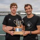 Peter Burling (left) and Blair Tuke with the Lonsdale Cup. Photo: Getty Images