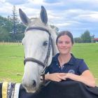 Pippa Collins (17) and horse First Lady back at home, after claiming the junior rider title at...
