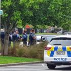 A man is arrested following a standoff at the Queenstown Events Centre. Photo: Matthew McKew