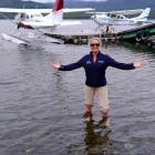 Wings & Water owner Kylie Krippner proudly shows the new floatplane based in Te Anau. PHOTO:...