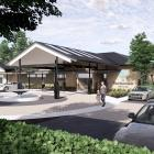An artist's impression of the entrance to the Hawthorndale Care Village ...