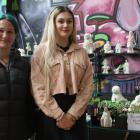 Mother and daughter Sarah Ladbrook and Jade Aitken showcased their sculptures and home-grown...