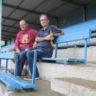 Athletics Southland president Chris Knight (left) and Waihopai Football Club president Gordon...