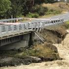 State Highway 83 in the Waitaki District is closed at the Parsons Rock Creek bridge because of...