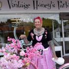 Vintage Honey's Parlour owner Nicola Chisholm arrives on her bike to her new business premise in...