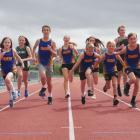 Dunedin athletes practise at the Caledonian Ground before the South Island Colgate Games in...
