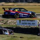 Henderson lies on the ground in pain after his Toyota Corolla AE86 rolled in a practice lap at...