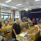 The Wanaka Rotary Club second-hand book fair attracts bibliophiles yesterday. PHOTO: KERRIE...