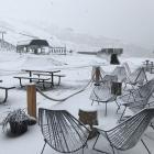 Snow at Cardrona Alpine Resort this morning. Photo: Geoff Wayatt