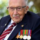 Captain Sir Tom Moore he launches his autobiography book 'Tomorrow will be a Good Day' at his...