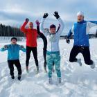 Athletes wearing woollen socks instead of footwear during their training in Espoo. Photo: Reuters