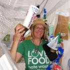 Waste minimisation officer Abi Hawkins shows visitors to the Central Otago A&P Show what...