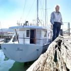 Experienced mariner Mark Hammond and his vessel Maia face having to leave Dunedin's Steamer Basin...